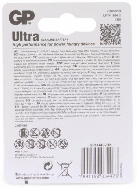 Baby-Batterien GP ULTRA ALKALINE, 2 Stück - Produktbild 6