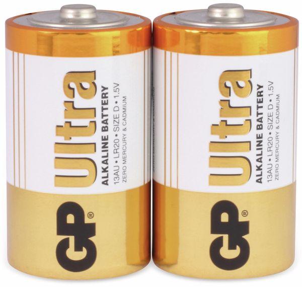 Mono-Batterien GP ULTRA ALKALINE, 2 Stück - Produktbild 1