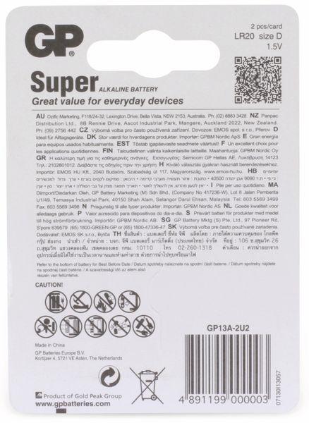 Mono-Batterie-Set GP SUPER Alkaline 2 Stück - Produktbild 6