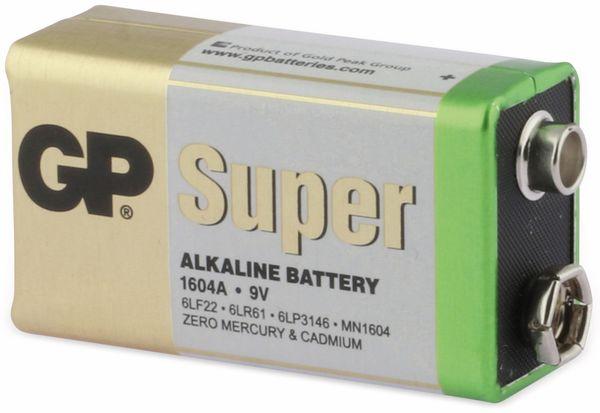 9V-Block-Batterie GP SUPER Alkaline 1 Stück - Produktbild 2