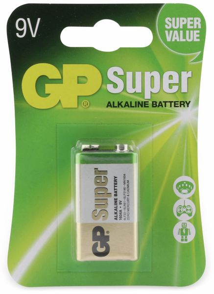 9V-Block-Batterie GP SUPER Alkaline 1 Stück - Produktbild 4