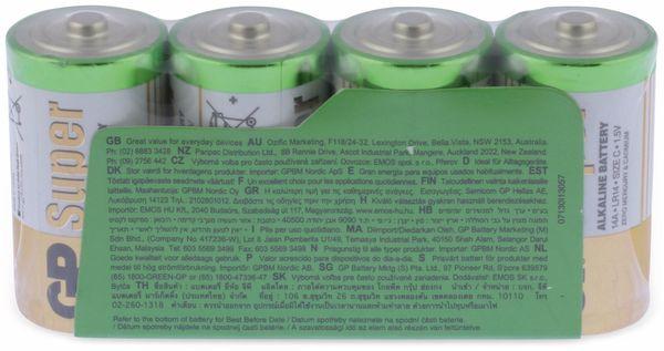 Baby-Batterie-Set GP SUPER Alkaline 4 Stück - Produktbild 6