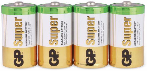 Mono-Batterie-Set GP SUPER Alkaline 4 Stück - Produktbild 1