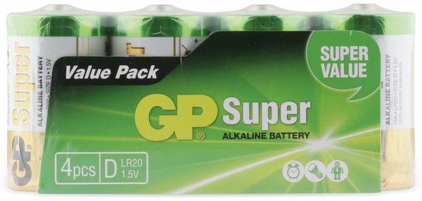 Mono-Batterie-Set GP SUPER Alkaline 4 Stück - Produktbild 5