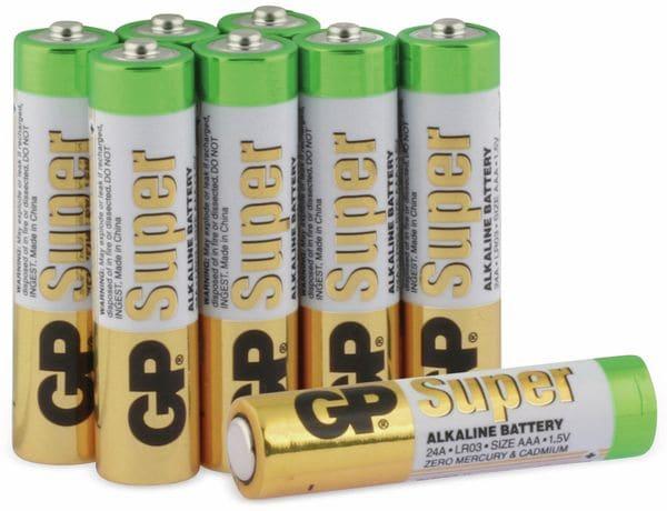 Micro-Batterie-Set GP SUPER Alkaline 8 Stück