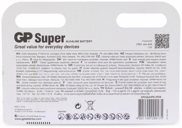 Micro-Batterie-Set GP SUPER Alkaline 8 Stück - Produktbild 6