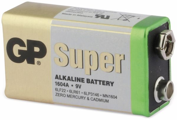 9V-Block-Batterie-Set GP SUPER Alkaline 10 Stück - Produktbild 3