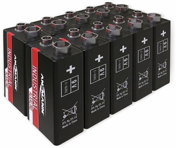 9V-Blockbatterie, ANSMANN, INDUSTRIAL, Alkaline, 10 Stück