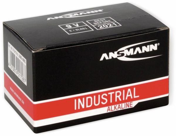 9V-Blockbatterie, ANSMANN, INDUSTRIAL, Alkaline, 10 Stück - Produktbild 2