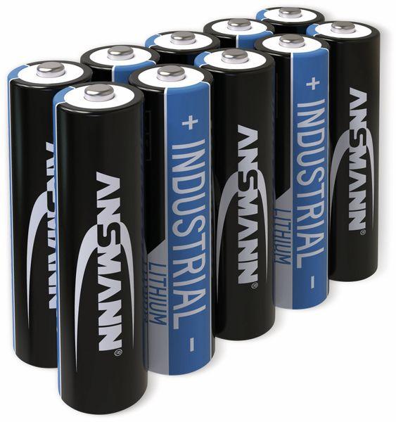 Lithium-Batterie, ANSMANN, INDUSTRIAL, Micro, 10 Stück