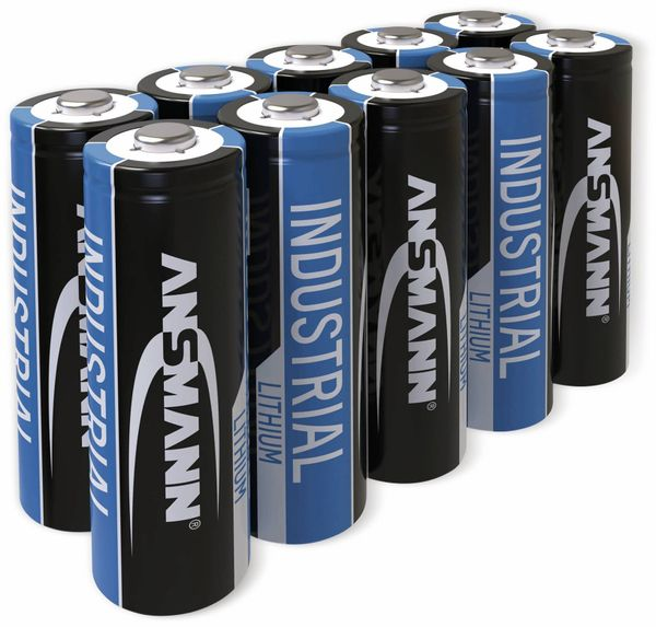 Lithium-Batterie, ANSMANN, INDUSTRIAL, Mignon, 10 Stück