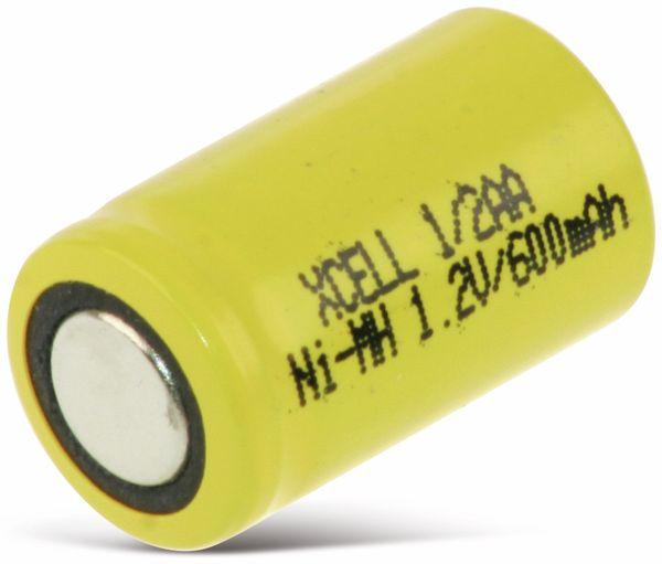 NiMH-Akku, XCELL, Industriezelle, 1/2 AA, 25,5x14,5mm, 1,2V/600mAh