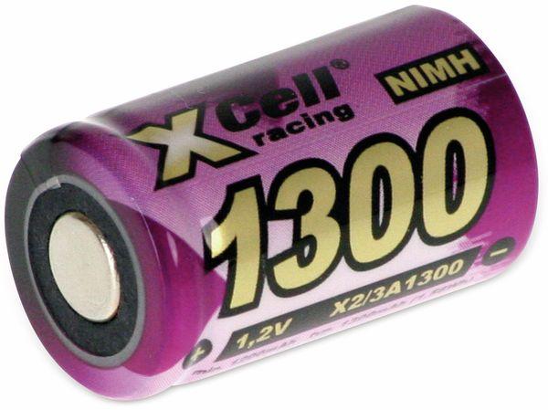 NiMH-Akku, XCELL, Industriezelle, 2/3 A, Flat-Top, 28,5x17mm, 1,2V/1300mAh - Produktbild 1