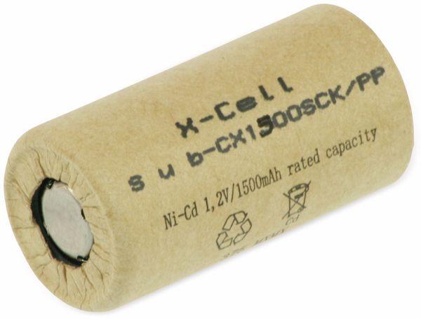 Sub-C-Zelle, XCELL, Ni-Cd, Pappmantel, 1,2V/1500mAh, 43x23mm