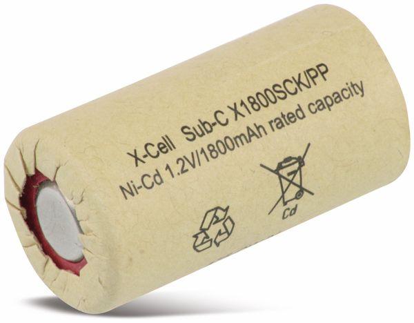 Sub-C-Zelle, XCELL, Ni-Cd, Pappmantel, 1,2V/1800mAh, 43x23 mm