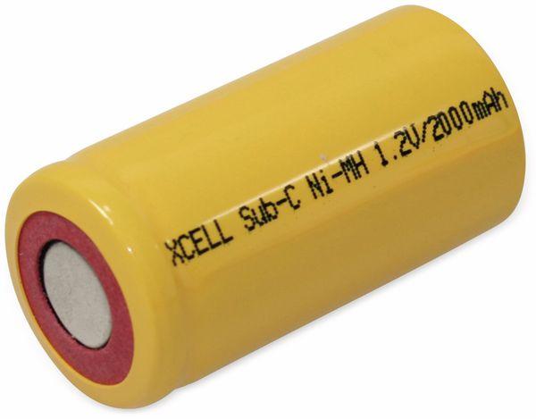 NiMH-Sub-C-Zelle-Akku XCELL, 2000 mAh, 1,2 V-, 43x22,5mm