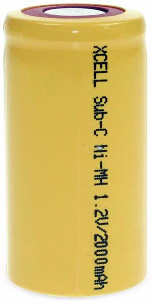 NiMH-Sub-C-Zelle-Akku XCELL, 2000 mAh, 1,2 V-, 43x22,5mm - Produktbild 2