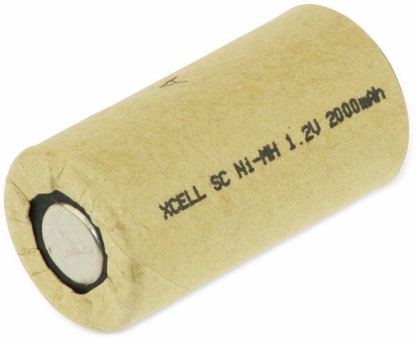 NiMH-Sub-C-Zelle-Akku XCELL, Pappmantel, 1,2V-/2000mAh, 43x22,5 mm