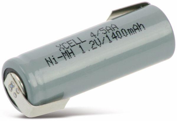 NiMH-Akku, XCELL, Industriezelle, 4/5AA, Z-Lötfahne, 43x14,5mm, 1,2V/1400mA