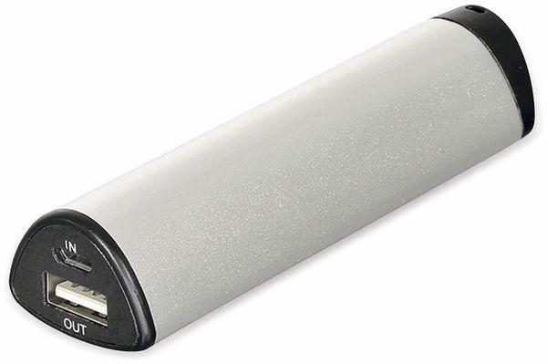 USB Powerbank, 2200 mAh, Alu, 1 A