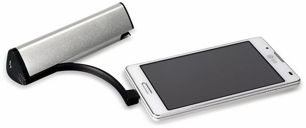 USB Powerbank, 2200 mAh, Alu, 1 A - Produktbild 2
