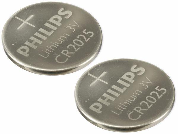 Knopfzelle, Philips, CR2025, Lithium, 3 V, 2 St.