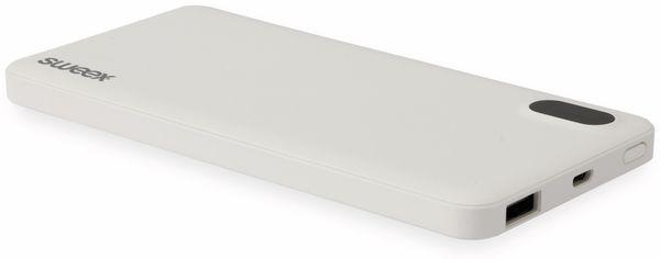 USB Powerbank, sweex, PB8000WH, 8000mAh, 1x USB-Port - Produktbild 3