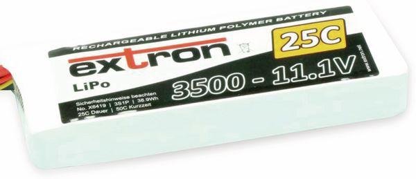 Modellbau-Akkupack EXTRON X2, LiPo, 11,1 V-/3500 mAh, 25C
