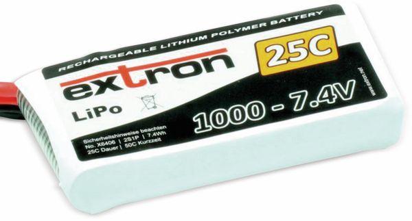 Modellbau-Akkupack EXTRON X2, LiPo, 7,4 V-/1000 mAh, 25C
