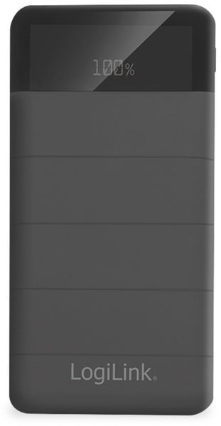 USB-Powerbank LogiLink PA0193, 10000 mAh, 3x USB Ausgang, schwarz