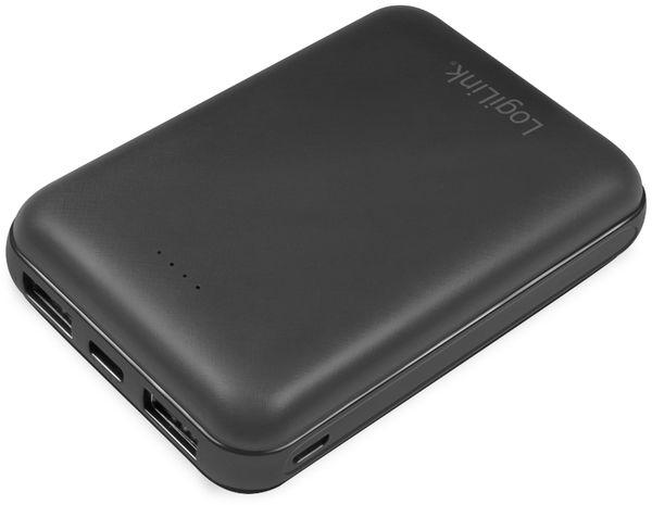 USB Powerbank LogiLink PA0191, 10000 mAh, schwarz, 2x USB Ausgang