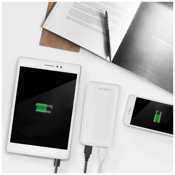 USB Powerbank LogiLink PA0195, 20000 mAh, weiß, 2x USB Ausgang - Produktbild 3