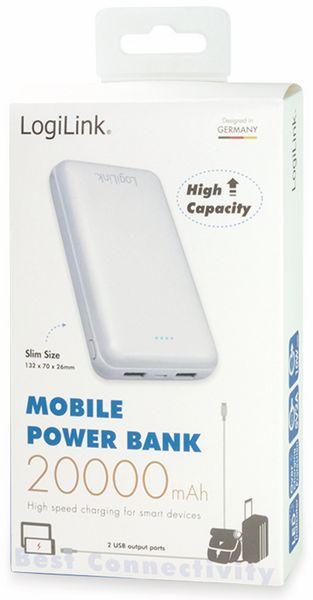 USB Powerbank LogiLink PA0195, 20000 mAh, weiß, 2x USB Ausgang - Produktbild 4