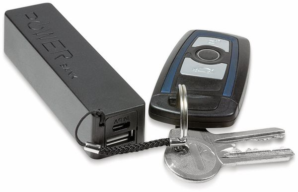 USB-Powerbank LogiLink PA0156, 2200 mAh, 1x USB Port, Schlüsselanhänger - Produktbild 3