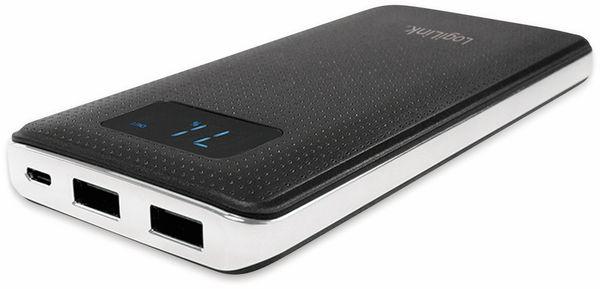 USB Powerbank LogiLink PA0154, 10000 mAh, schwarz/silber, 2x USB Port - Produktbild 3