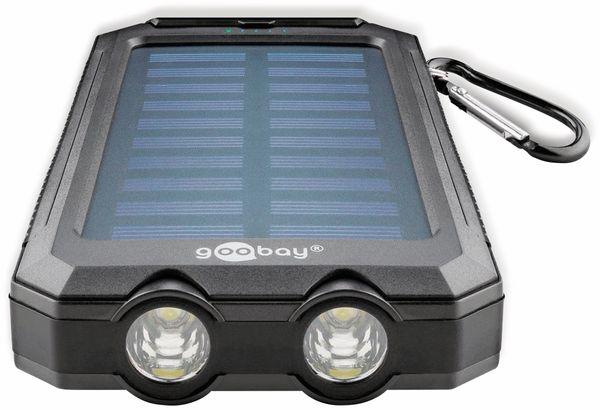 USB Powerbank Outdoor Solar, 8000 mAh, schwarz, GOOBAY 49216