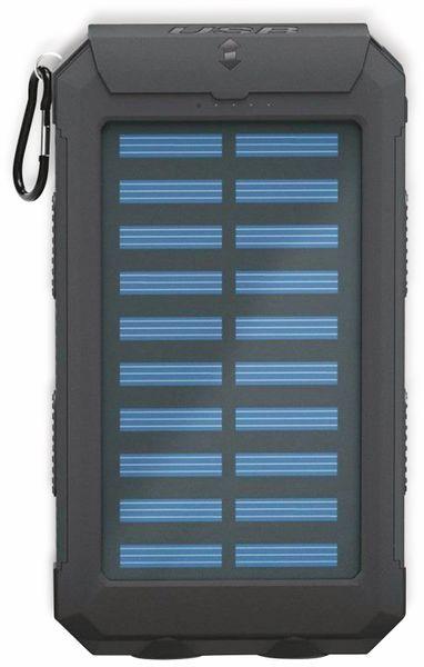 USB Powerbank Outdoor Solar, 8000 mAh, schwarz, GOOBAY 49216 - Produktbild 2