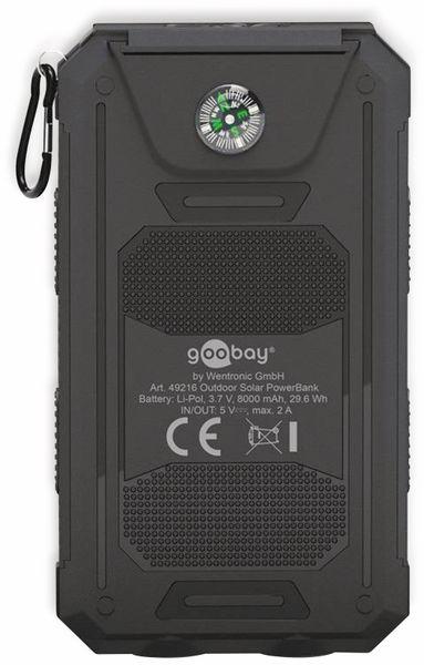 USB Powerbank Outdoor Solar, 8000 mAh, schwarz, GOOBAY 49216 - Produktbild 3