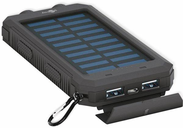 USB Powerbank Outdoor Solar, 8000 mAh, schwarz, GOOBAY 49216 - Produktbild 5