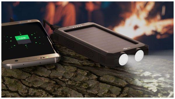 USB Powerbank Outdoor Solar, 8000 mAh, schwarz, GOOBAY 49216 - Produktbild 9