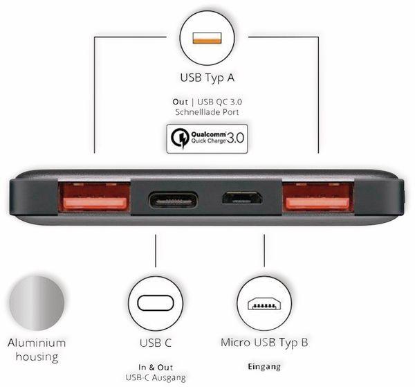 USB Powerbank GOOBAY 59819, QC3.0, 15000 mAh, Aluminium - Produktbild 2