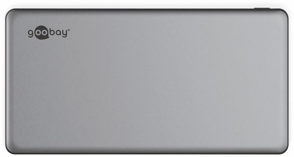 USB Powerbank GOOBAY 59821, QC3.0, 10000 mAh, Aluminium - Produktbild 4