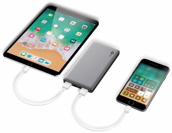 USB Powerbank GOOBAY 59821, QC3.0, 10000 mAh, Aluminium - Produktbild 7