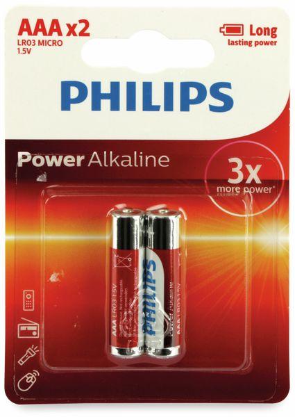 Micro-Batterien PHILIPS, Power Alkaline, 2 Stück - Produktbild 2