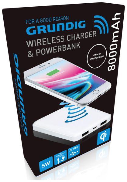 USB-Powerbank GRUNDIG, 8000 mAh, 2x USB, Induktion - Produktbild 3