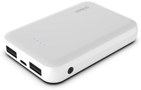 USB Powerbank VERICO Power Guard 10.000 mAh, weiß