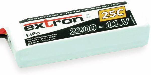 Modellbau-Akkupack EXTRON X2, LiPo, 11,1 V-/2200 mAh