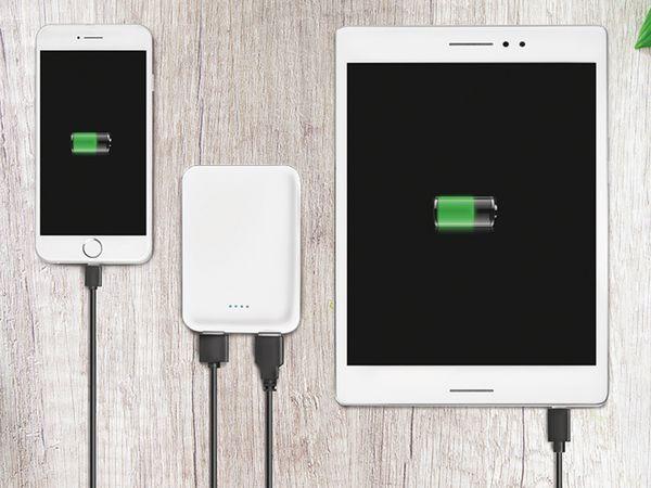USB Powerbank LOGILINK PA0202W, 5000 mAh, weiss, 2x USB Ausgang - Produktbild 5