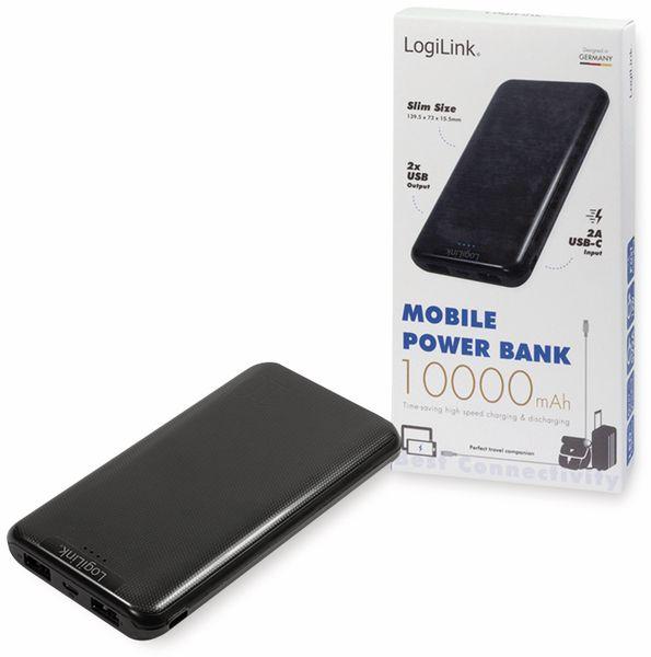 USB Powerbank LOGILINK PA0206, 10000 mAh, LiPo, schwarz, 2x USB Ausgang - Produktbild 4