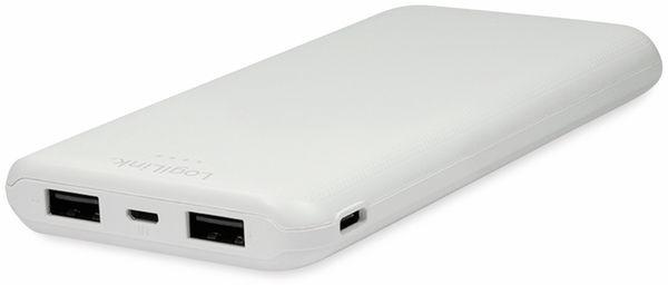 USB Powerbank LOGILINK PA0206W, 10000mAh, LiPo, weiss, 2x USB Ausgang